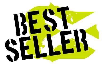 Bestseller sticker. Authentic design graphic stamp. Original series Illustration