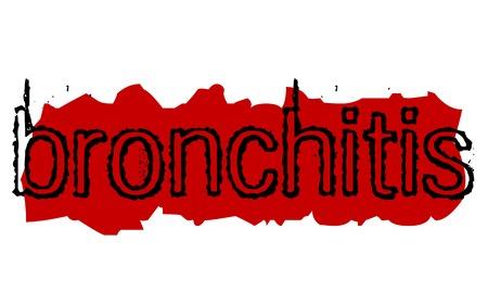 Bronchitis sticker. Authentic design graphic stamp. Original series Illustration