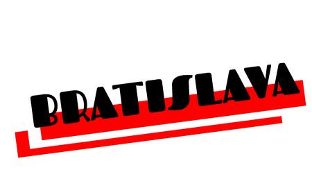Bratislava sticker. Authentic design graphic stamp. Original series