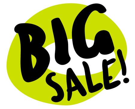 to spend the summer: Big sale sticker. Authentic design graphic stamp. Original series
