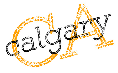 Calgary sticker. Authentic design graphic stamp. Original series