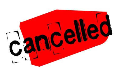 Cancelled sticker. Authentic design graphic stamp. Original series  イラスト・ベクター素材