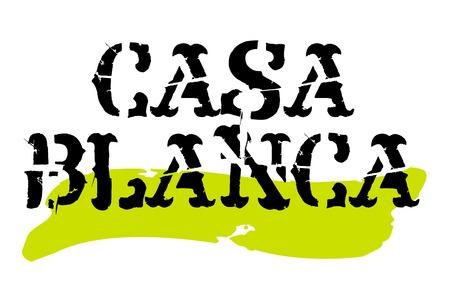 Casablanca sticker. Authentic design graphic stamp. Original series