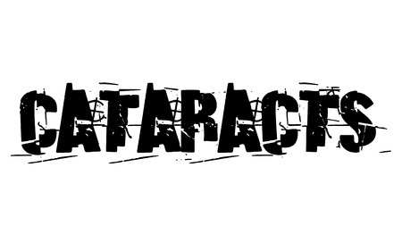 Cataracts sticker. Authentic design graphic stamp. Original series Иллюстрация