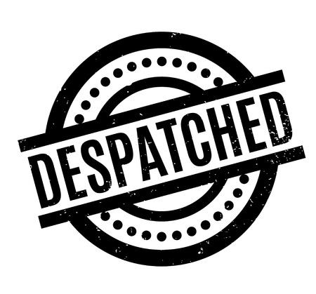 despatch: Despatched rubber stamp. Grunge design with dust scratches. Effects can be easily removed for a clean, crisp look. Color is easily changed. Illustration