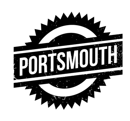 Portsmouth rubber stamp. Grunge design with dust scratches. Effects can be easily removed for a clean, crisp look. Color is easily changed.