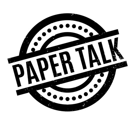 old newspaper: Paper Talk rubber stamp. Grunge design with dust scratches. Effects can be easily removed for a clean, crisp look. Color is easily changed.
