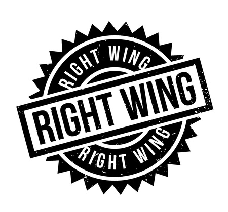 Right Wing rubber stamp. Grunge design with dust scratches. Effects can be easily removed for a clean, crisp look. Color is easily changed. Stock Vector - 88146784
