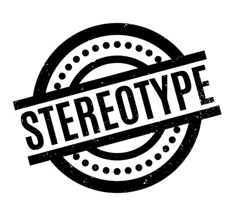 racismo: Stereotype rubber stamp. Grunge design with dust scratches. Effects can be easily removed for a clean, crisp look. Color is easily changed.