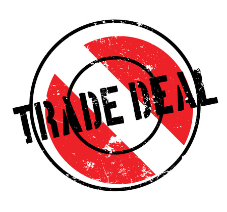 Trade Deal rubber stamp. Grunge design with dust scratches. Effects can be easily removed for a clean, crisp look. Color is easily changed. Illustration