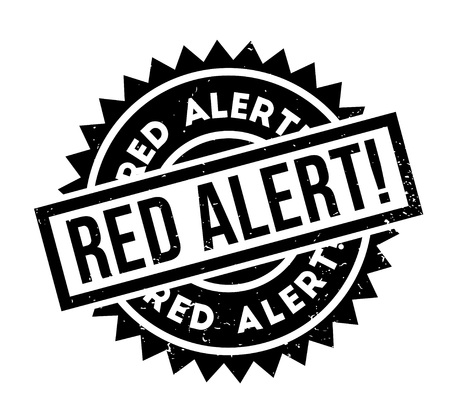 be careful: Red Alert rubber stamp. Grunge design with dust scratches. Effects can be easily removed for a clean, crisp look. Color is easily changed.