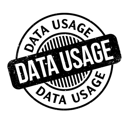 Data Usage rubber stamp. Grunge design with dust scratches. Effects can be easily removed for a clean, crisp look. Color is easily changed. Illustration