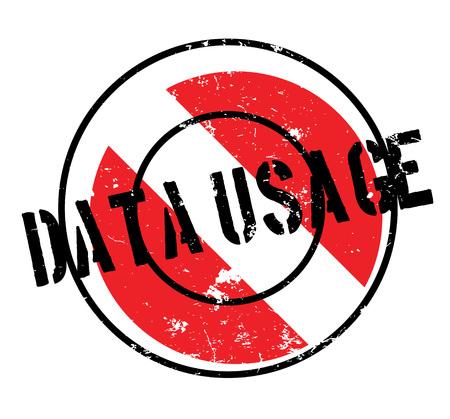 Data usage rubber stamp.