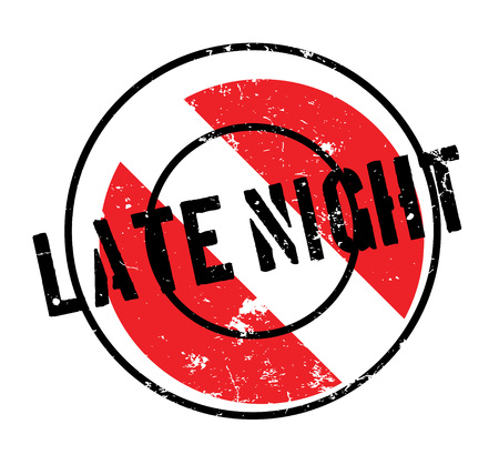 Late night rubber stamp. Stock Vector - 88212822