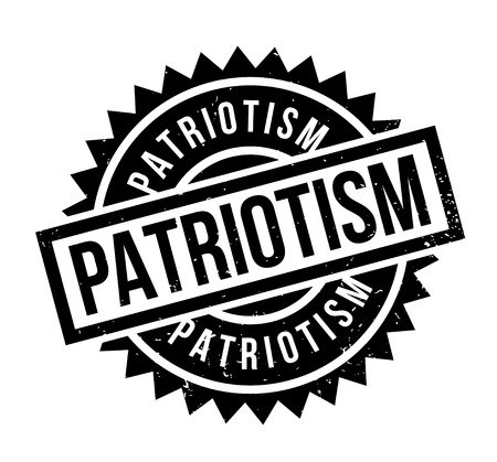 Patriotism rubber stamp. Grunge design with dust scratches. Effects can be easily removed for a clean, crisp look. Color is easily changed. Illustration
