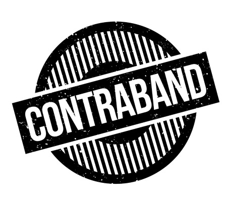 Contraband rubber stamp. Illustration
