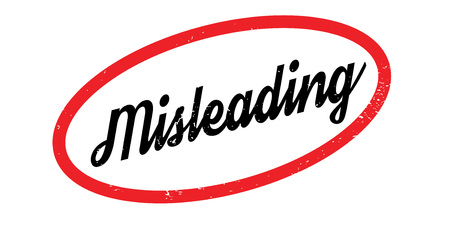 Misleading rubber stamp. Grunge design with dust scratches. Effects can be easily removed for a clean, crisp look. Color is easily changed.