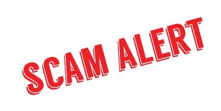 Scam Alert rubber stamp.