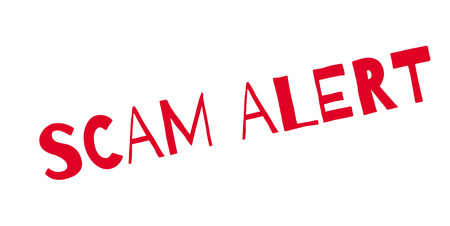 Scam Alert rubber stamp.