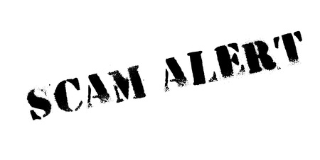 Scam Alert rubber stamp..