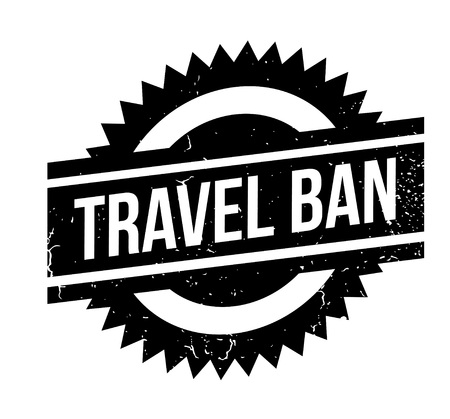 Travel ban rubber stamp. Stock Vector - 88222187