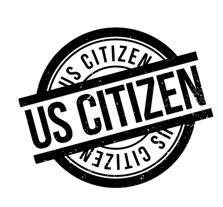 Us Citizen rubber stamp. Stok Fotoğraf - 88222211