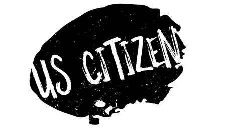 Us Citizen rubber stamp. Grunge design with dust scratches. Effects can be easily removed for a clean, crisp look. Color is easily changed. Çizim