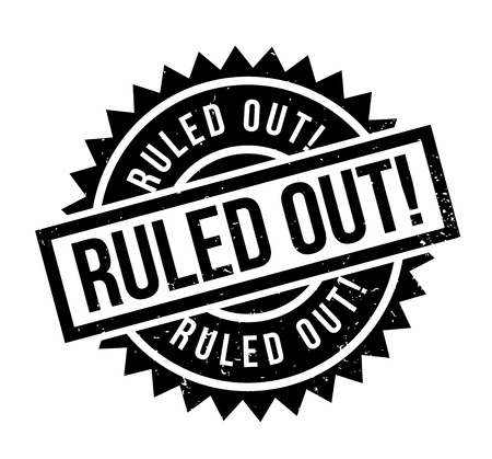 Ruled Out rubber stamp. Grunge design with dust scratches. Effects can be easily removed for a clean, crisp look. Color is easily changed. Illustration