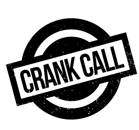 Crank Call rubber stamp. Grunge design with dust scratches. Effects can be easily removed for a clean, crisp look. Color is easily changed.