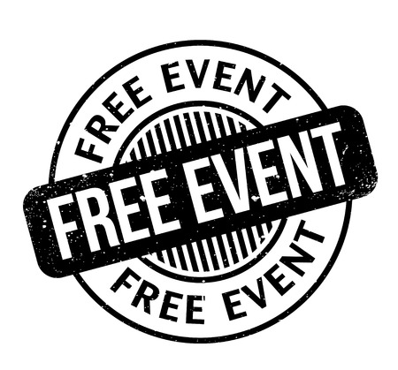 Free Event rubber stamp. Grunge design with dust scratches. Effects can be easily removed for a clean, crisp look. Color is easily changed. Illustration