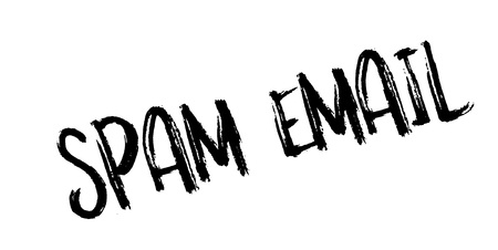unsolicited: Spam Email rubber stamp. Grunge design with dust scratches. Effects can be easily removed for a clean, crisp look. Color is easily changed.