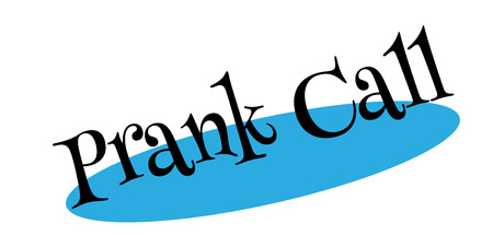 Prank Call rubber stamp. Grunge design with dust scratches. Effects can be easily removed for a clean, crisp look. Color is easily changed. Illustration