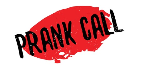Prank Call rubber stamp. Grunge design with dust scratches. Effects can be easily removed for a clean, crisp look. Color is easily changed. Ilustração