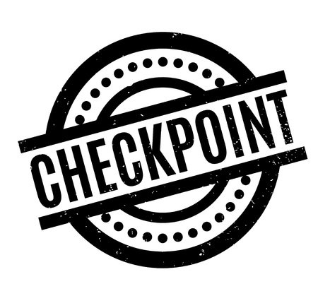 Checkpoint rubber stamp. Grunge design with dust scratches, vector illustration.