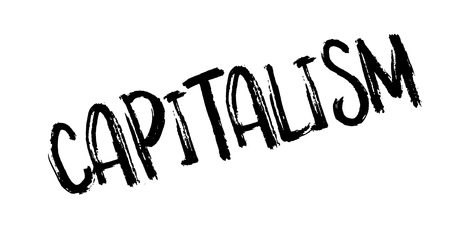 capitalismo: Capitalism rubber stamp. Grunge design with dust scratches. Effects can be easily removed for a clean, crisp look.