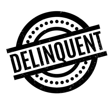 delincuencia: Delincuente sello de goma.