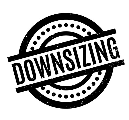 Downsizing rubber stamp.