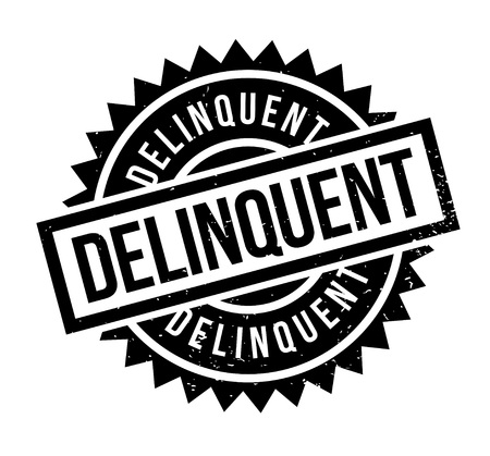 Delinquent rubber stamp. Grunge design with dust scratches. Effects can be easily removed for a clean, crisp look.