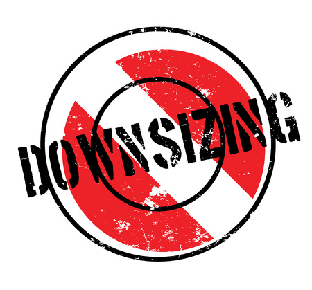 Downsizing rubber stamp. Grunge design with dust scratches. Effects can be easily removed for a clean, crisp look.