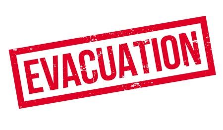 Evacuation rubber stamp. Ilustração
