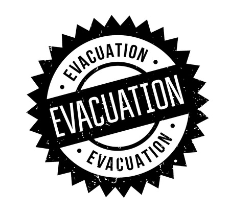 Evacuation rubber stamp. Imagens - 88282432