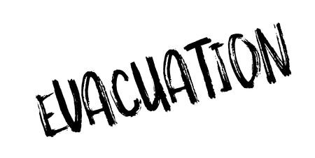 Evacuation rubber stamp. Imagens - 88282435