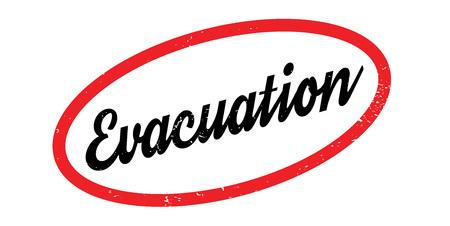 Evacuation rubber stamp. Illustration