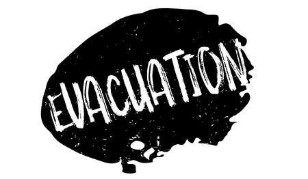 Evacuation rubber stamp. Imagens - 88282442