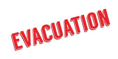 evacuacion: Un sello de goma de evacuación. Diseño de Grunge con rayas de polvo. Los efectos se pueden eliminar fácilmente para una apariencia limpia y nítida.