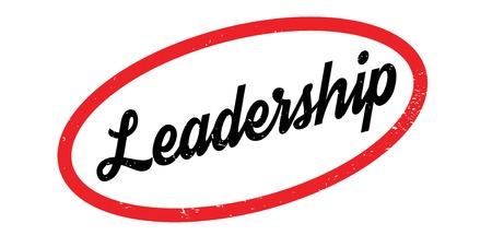 リーダーシップのゴム印。