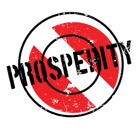 Prosperity rubber stamp. Grunge design with dust scratches. Effects can be easily removed for a clean, crisp look. Illustration