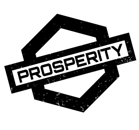 Prosperity rubber stamp. Grunge design with dust scratches. Effects can be easily removed for a clean, crisp look. 向量圖像