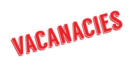 Vacancies rubber stamp..