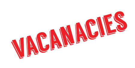 availability: Vacancies rubber stamp..